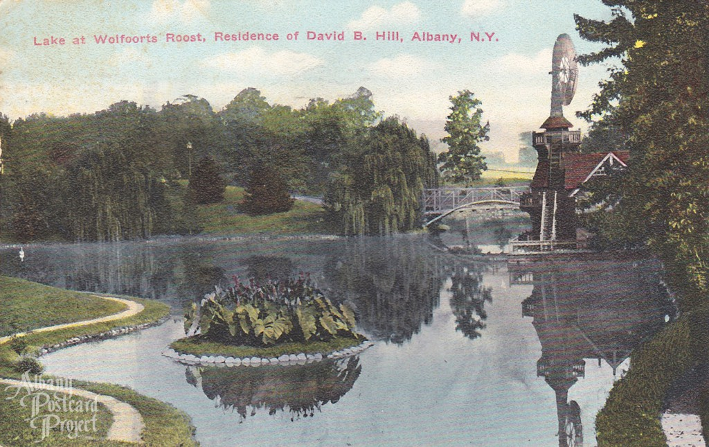 Lake at Wolfoorts Roost, Residence of David B Hill