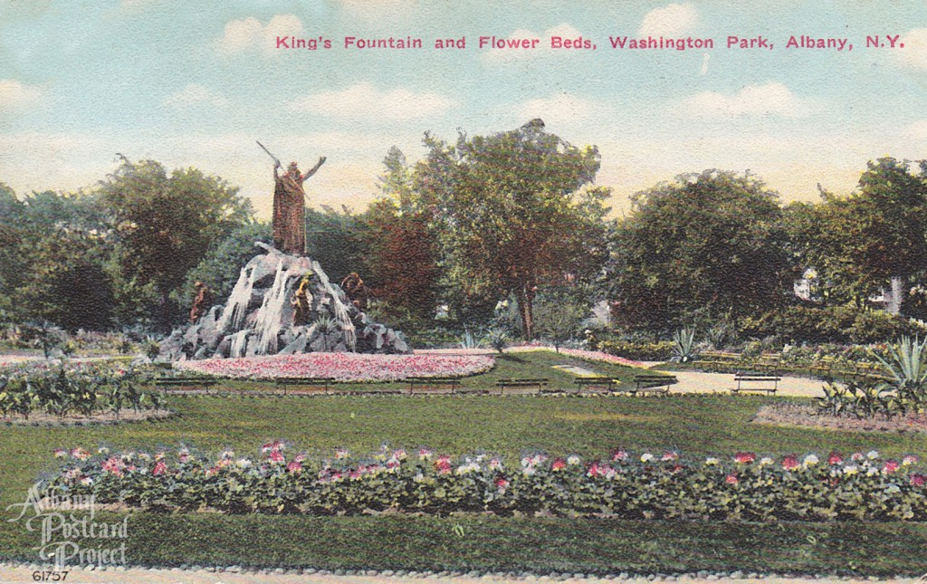 King's Fountain and Flower Beds, Washington Park