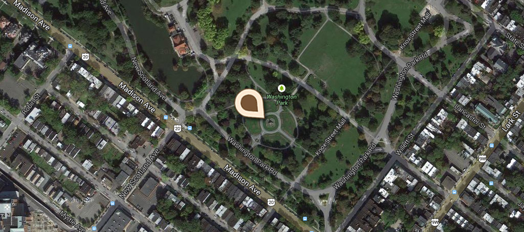 Map King Fountain, Washington Park