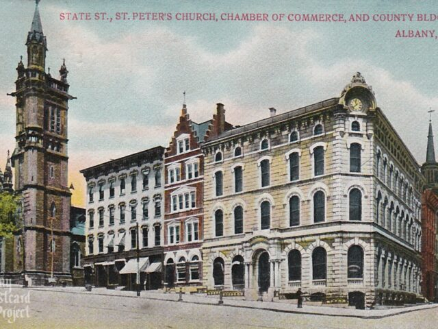 St. Peter's Church, Chamber of Commerce, and County Bldg.