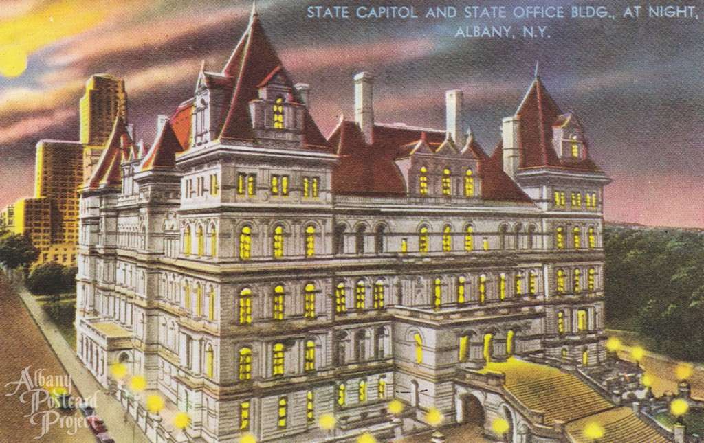 State Capitol and State Office Bldg at Night