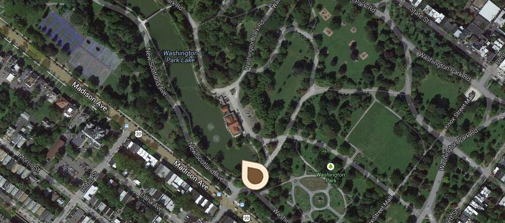 Map Washington Park Lake