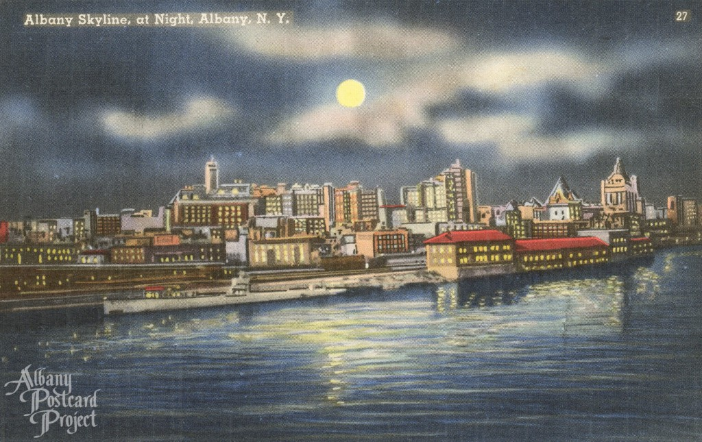 Albany Skyline at Night