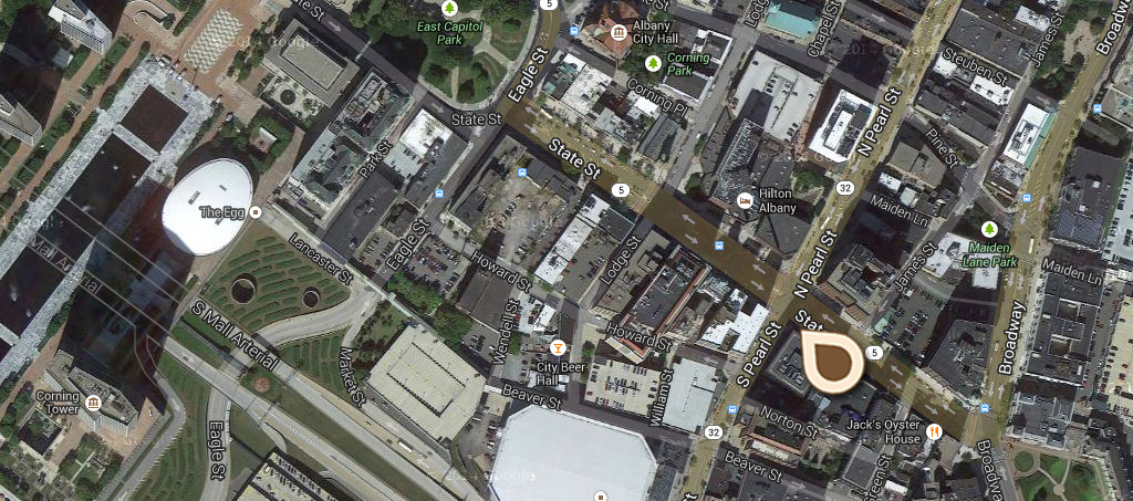 Map State Street showing State Capitol in the Distance