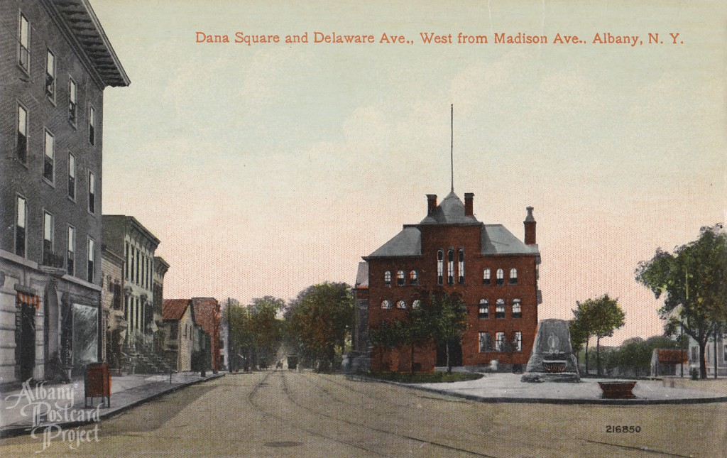 Dana Square and Delaware Ave, West from Madison Ave