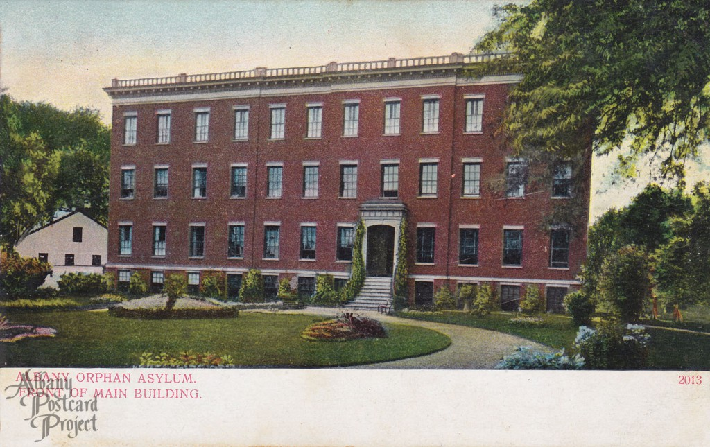 Map Albany Orphan Asylum Front of Main Building