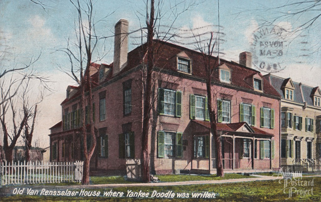Old Van Rensselaer House where Yankee Doodle was Written