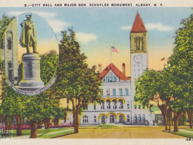 City Hall and Major Gen. Schuyler Monument