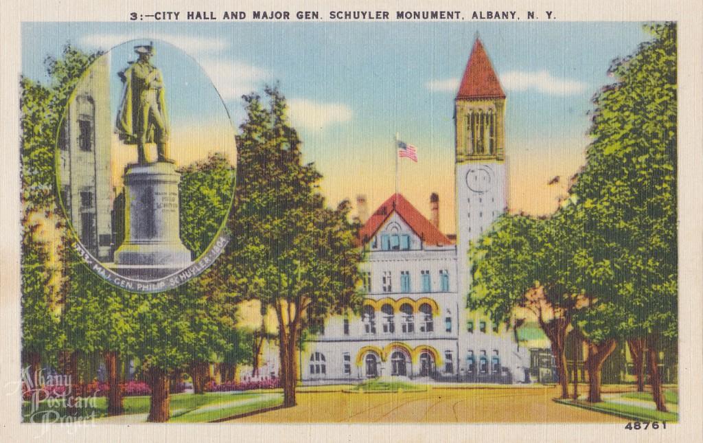 City Hall and Major Gen Schuyler Monument