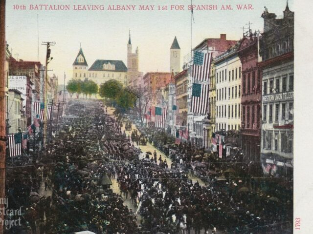 10th Battalion Leaving Albany May 1st for Spanish Am. War