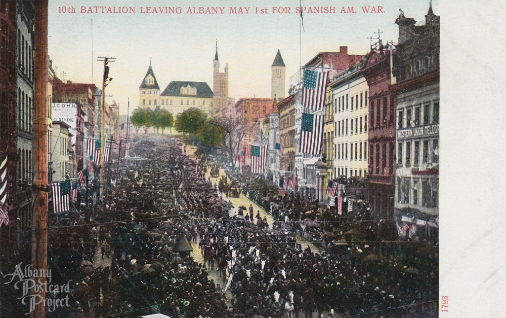 10th Battalion Leaving Albany May 1st For Spanish Am War