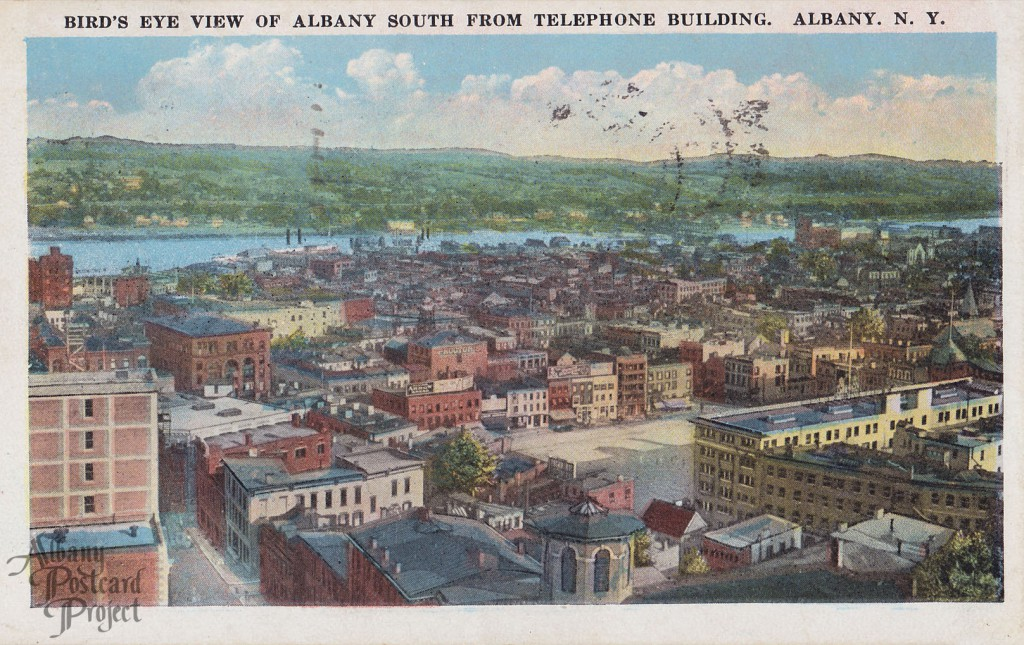 Bird's Eye View of Albany South from Telephone Building