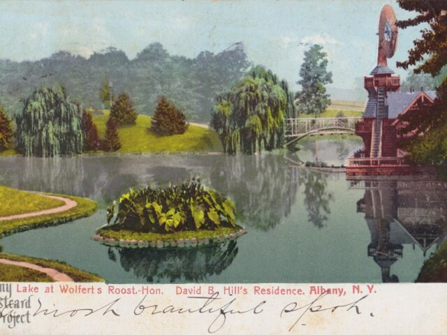 Lake at Wolferts Roost – Hon. David B. Hill's Residence