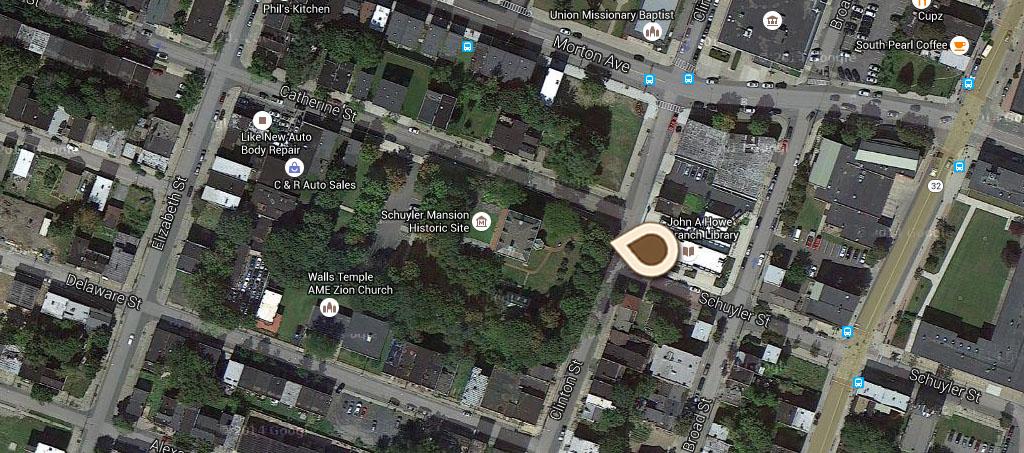 Map Old Schuyler Mansion