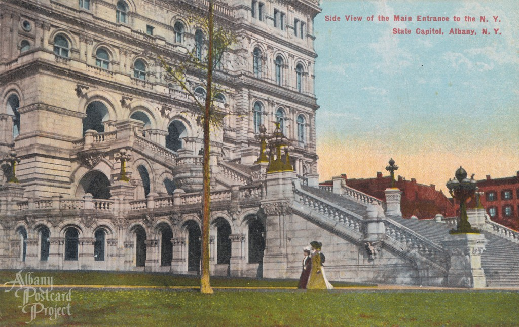 Side View of the Main Entrance to the NY State Capitol