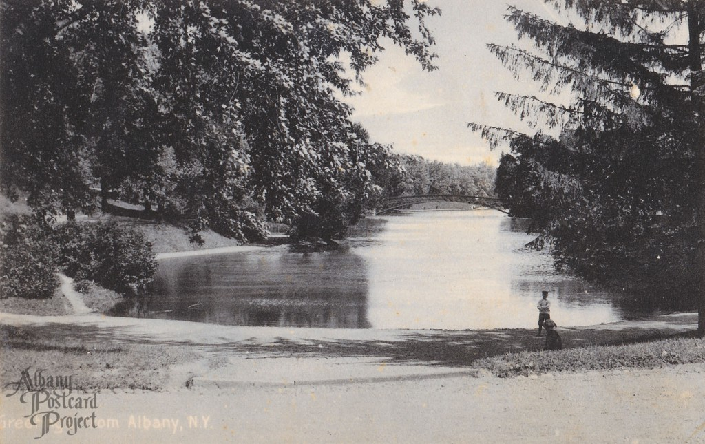 Greetings from Albany Washington Park Lake
