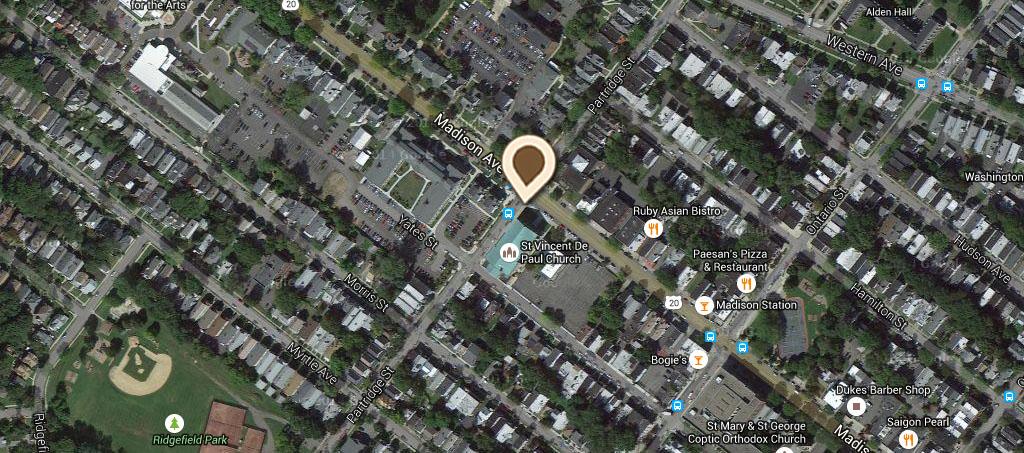 Map St Vincent De Paul R C Church