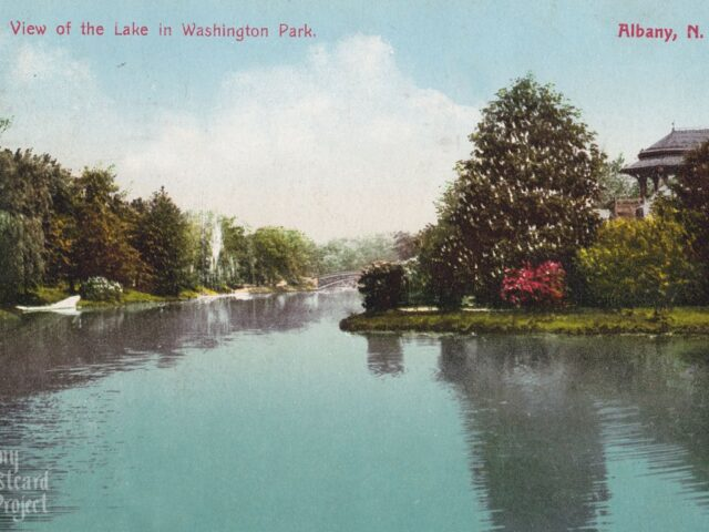 A View of the Lake in Washington Park