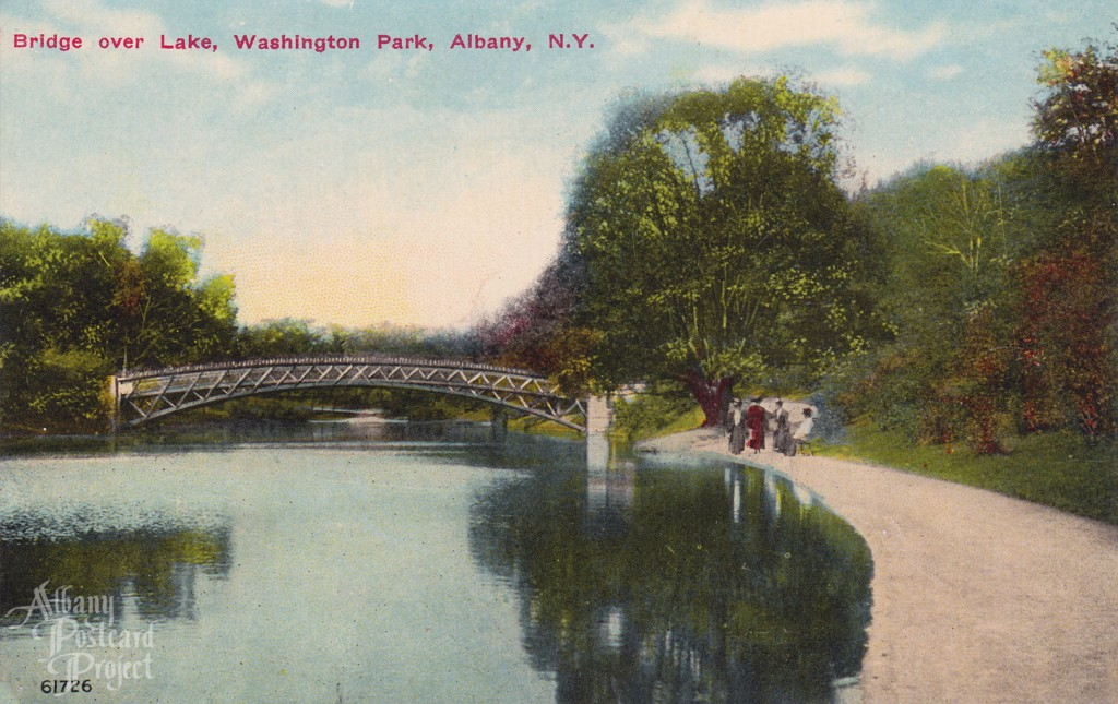 Bridge Over Lake, Washington Park 01