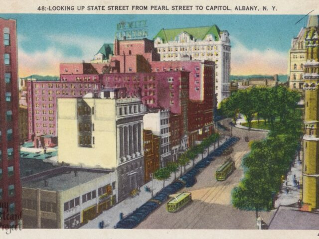 Looking Up State Street From Pearl Street to Capitol