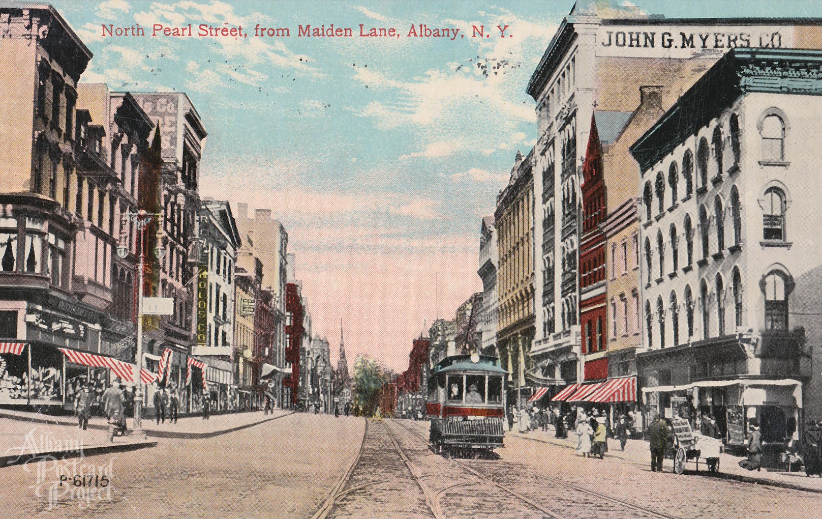 North Pearl Street From Maiden Lane Albany Postcard Project