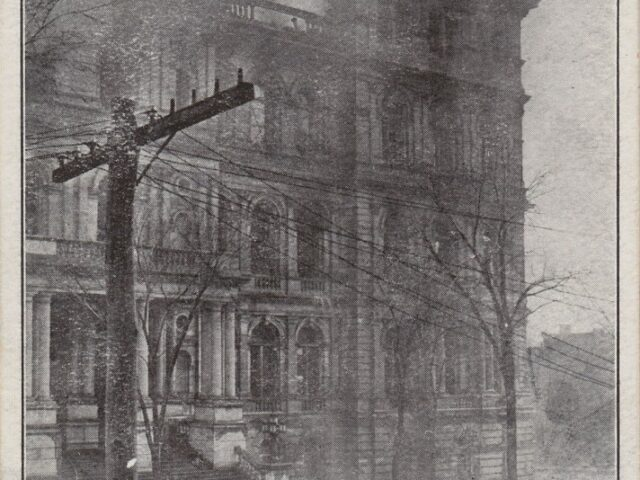 The Fire in the S.W. Tower in the NY State Capitol, Loss About $5,000,000 March 29 1911