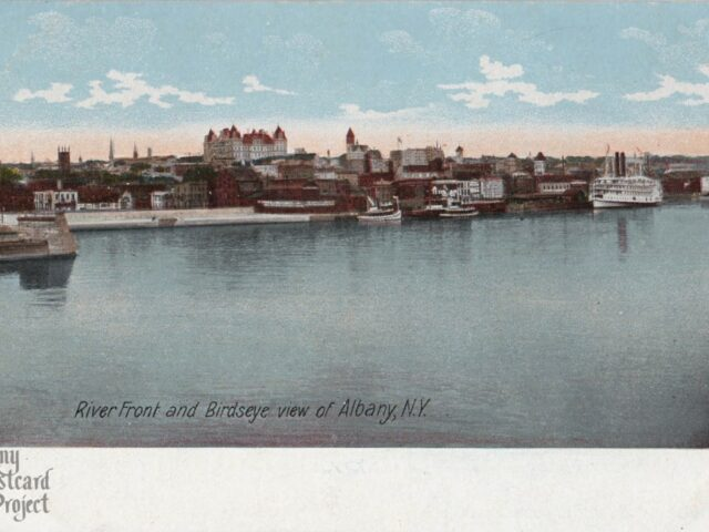 River Front and Birdseye view of Albany