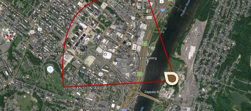 Where The Pographer Stood Map Prospect Of The City Of Albany In The Province Of New York In America