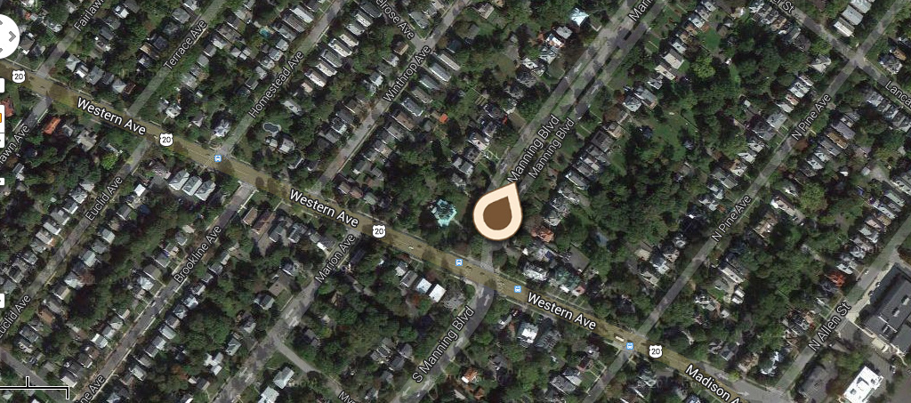 Map Manning Boulevard