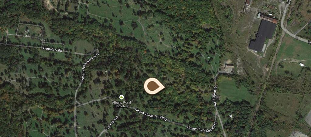 Map Ravine Rural Cemetery