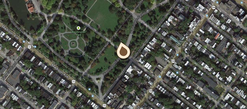 Map Robert Burns Statue Washington Park