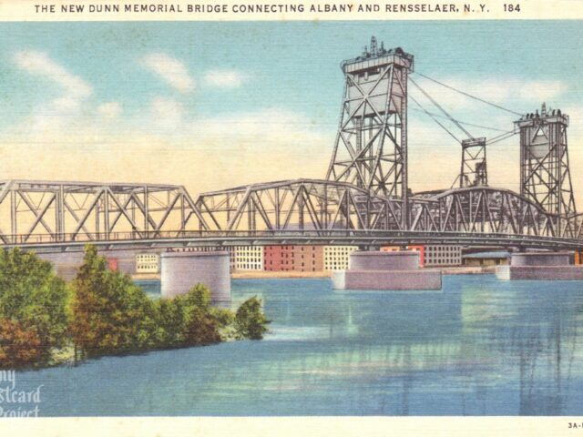 The New Dunn Memorial Bridge Connecting Albany and Rensselaer, NY