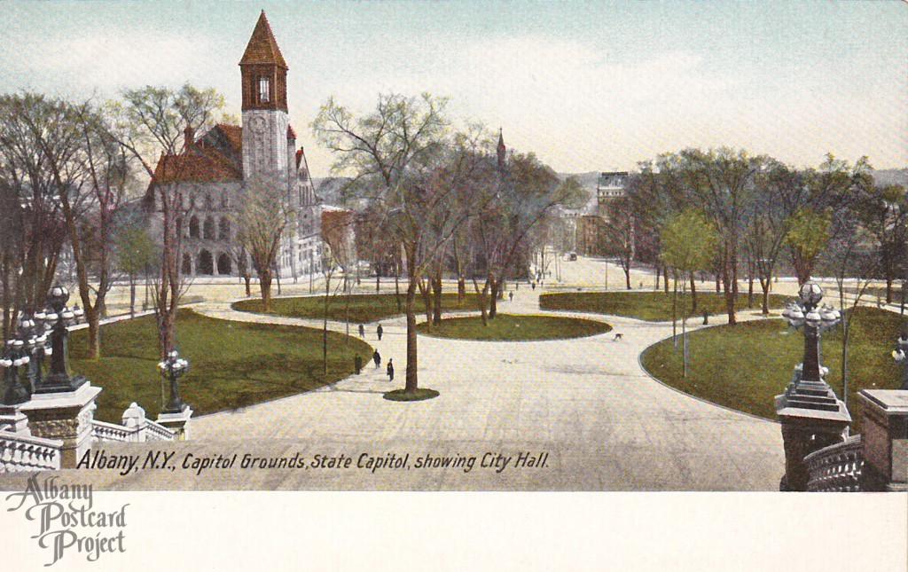 Capitol Grounds, State Capitol, showing City Hall
