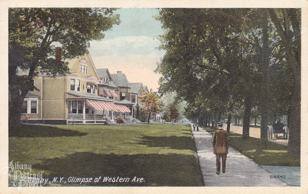Glimpse of Western Ave.