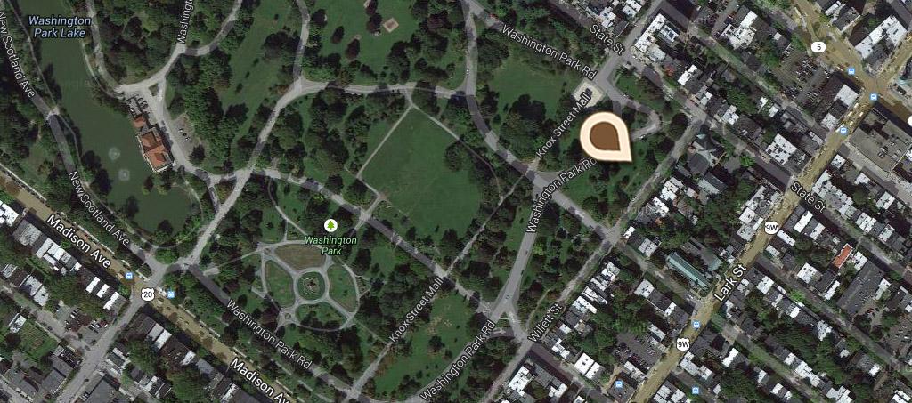 Map Col Marinus Willet Memorial, Washington Park