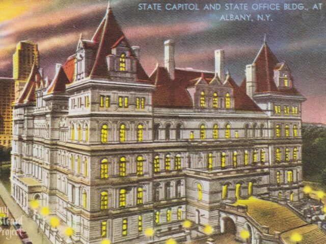State Capitol and State Office Bldg., at Night