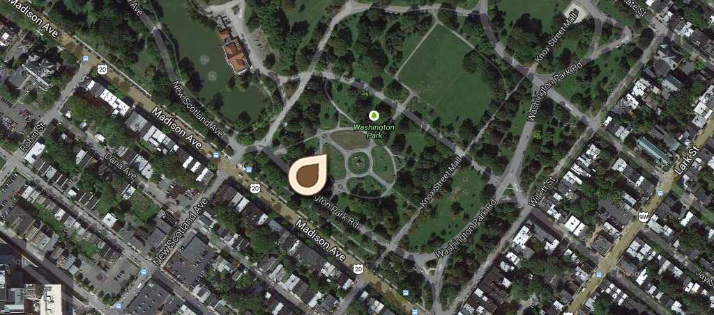 Map Flower Gardens, Washington Park