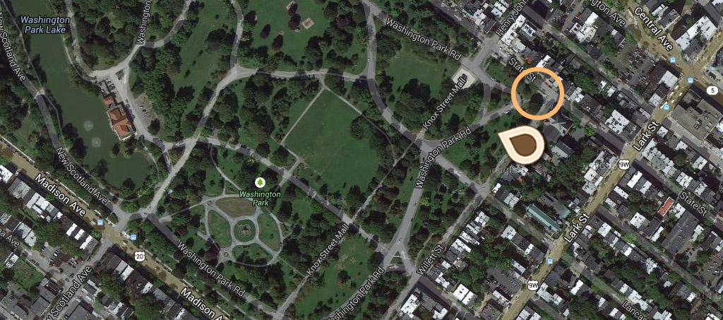 Map Willett Memorial, Washington Park