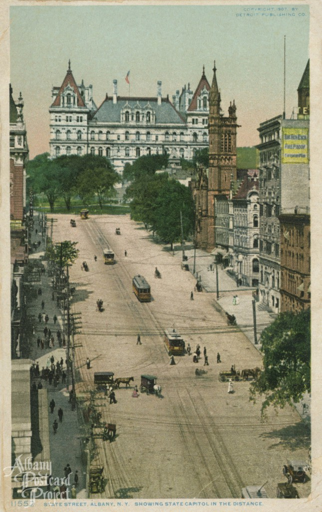 State Street, Showing State Capitol in the Distance
