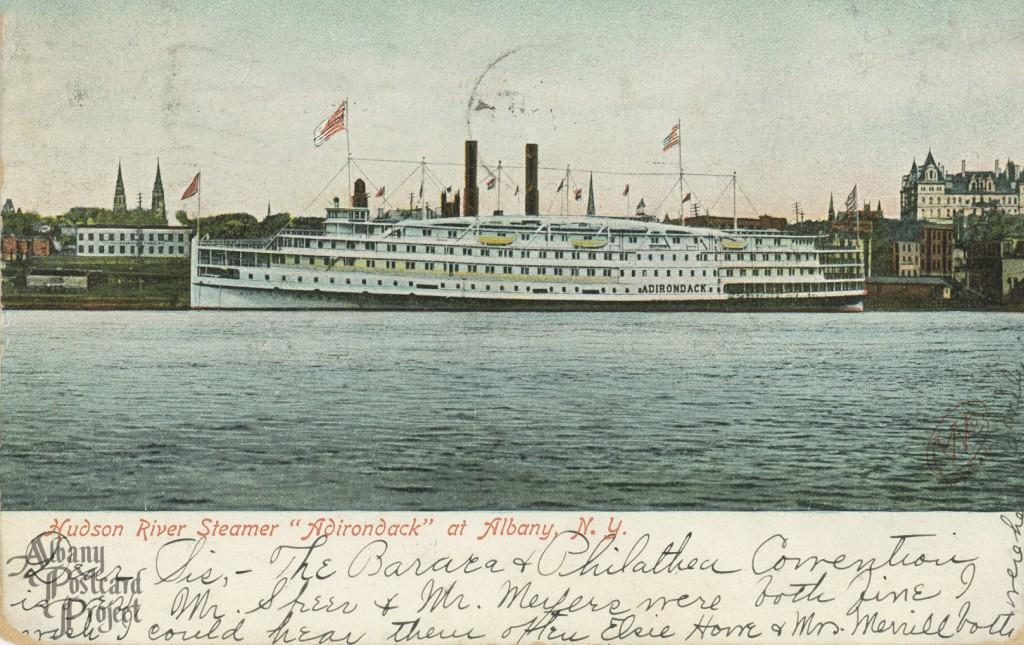"Hudson River Steamer ""Adirondack"""