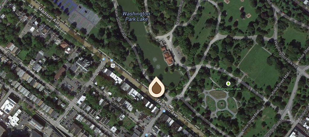 Map Washington Park, Showing Recreation Building and Boat House copy