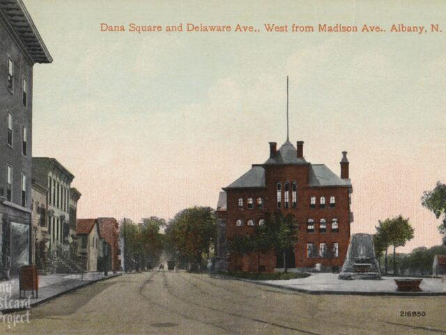 Dana Square and Delaware Ave., West from Madison Ave.