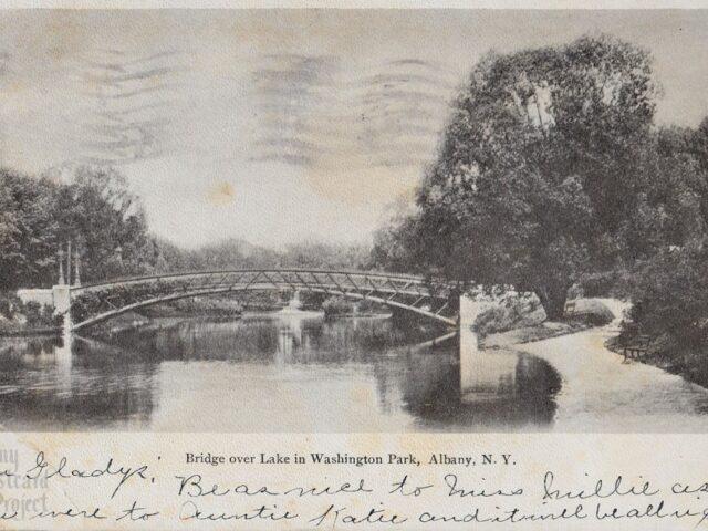 Bridge Over Lake in Washington Park