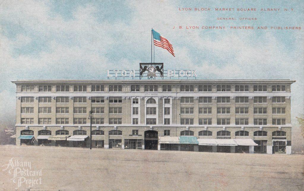 Lyon Block, Market Square. General Offices J. B. Lyon Company, Printers and Publishers