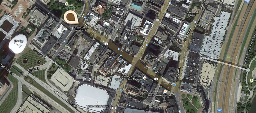 Map Looking Down State Street