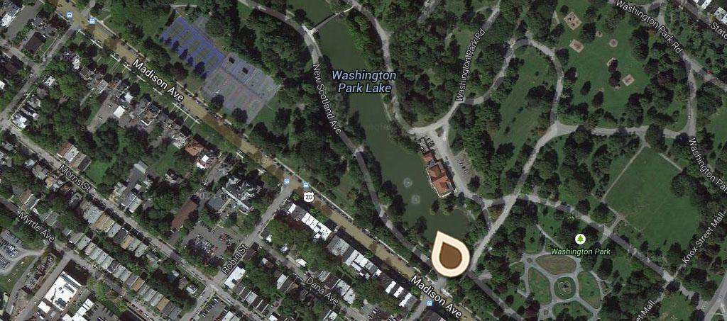 Map Washington Park Night Scene