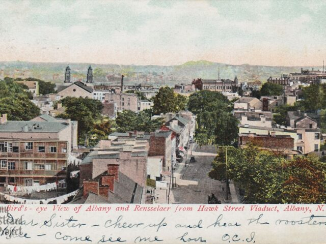 Bird's-eye View of Albany and Rennselaer from Hawk Street Viaduct