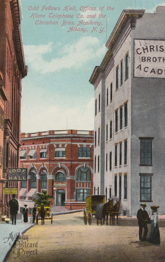 Odd Fellows Hall, Offices of the Home Telephone Co. and the Christian Bros. Academy