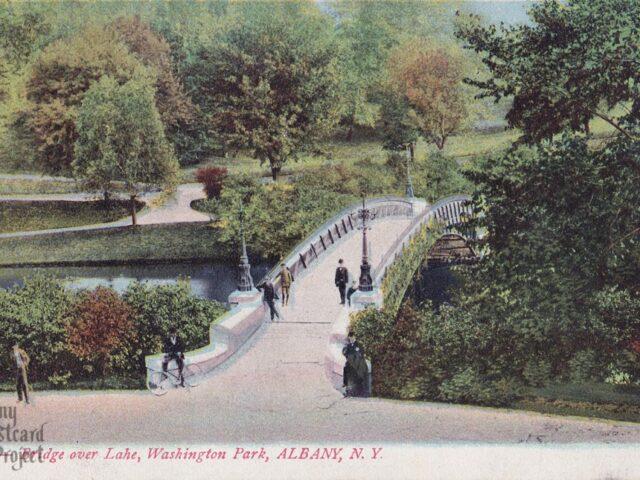 Bridge over Lake, Washington Park