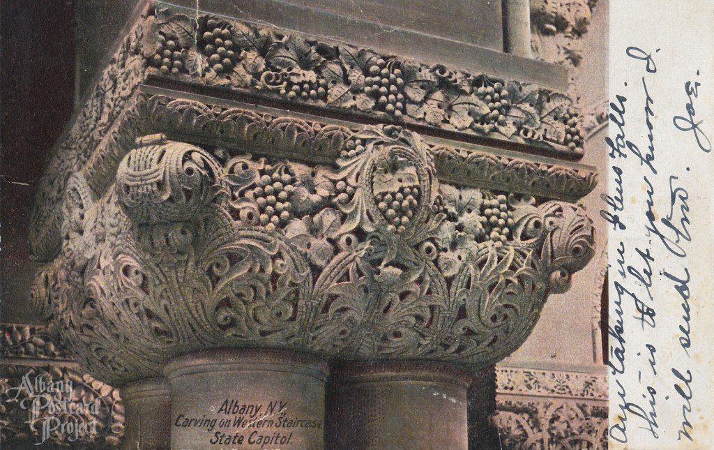 Carving on Western Staircase, State Capitol